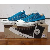 "90's VINTAGE CONVERSE ALL STAR Lo ""BRIGHT BLUE MOON"" MADE IN USA [DEAD STOCK/7]"