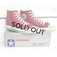 80's VINTAGE CONVERSE ALL STAR Hi[GLOVE LEATHER RED/SIZE 10]