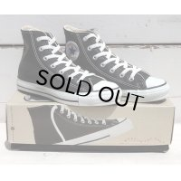 90's VINTAGE CONVERSE ALL STAR HI MADE IN USA[BLACK GLOVE LEATHER/SIZE 4h/DEAD STOCK]