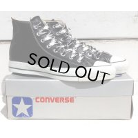80's VINTAGE CONVERSE ALL STAR HI MADE IN USA[GLOVE LEATHER BLACK/SIZE 10]