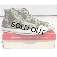 80's VINTAGE CONVERSE ALL STAR HI MADE IN USA[83 CAMOUFLAGE/SIZE 10h]